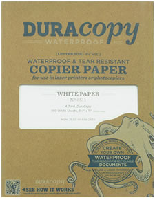 DuraCopy Waterproof Paper
