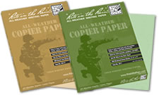 Waterproof military paper
