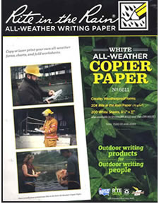 Rite-in-the-Rain weatherproof paper