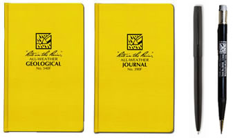Waterproof field books