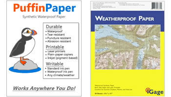 Waterproof Paper Puffinpaper Works Anywhere You Do