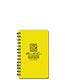 Mini side spiral waterproof notebook