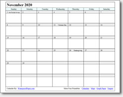 picture relating to Free Printable Nov Calendar titled November 2018 Printable Calendar - Print as a great number of as by yourself need to have!