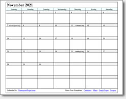 November 2018 Printable Calendar Print As Many As You Want