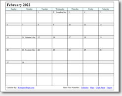 graphic about Feb Calendar Printable named February 2020 Printable Calendar - Print as innumerable as your self require.