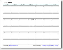 June 2023 calendar