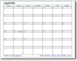 April 2024 calendar