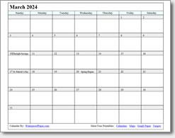 March 2024 calendar