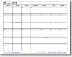 October 2024 calendar