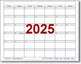 2025 calendar