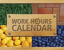Department of Labor Work Hours Calendar