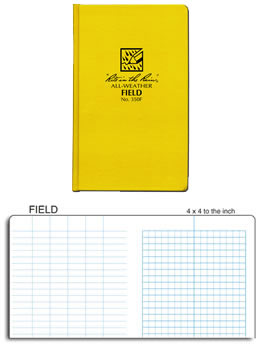 waterproof field book