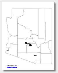 printable Arizona major cities map labeled