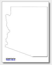 printable Arizona outline map