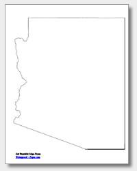 printable Arizona outline map
