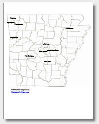 printable Arkansas major cities map labeled