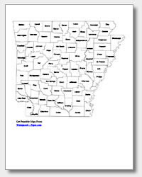 printable Arkansas county map labeled