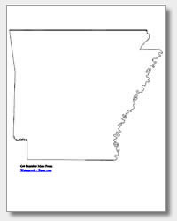 printable Arkansas outline map
