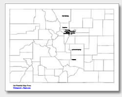printable Colorado major cities map labeled