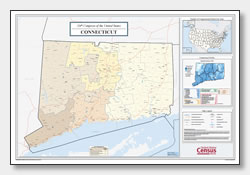 printable Connecticut congressional district map
