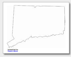 printable Connecticut outline map