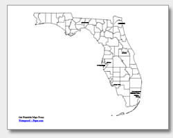 printable Florida major cities map labeled
