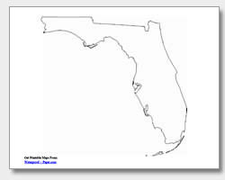 printable Florida outline map