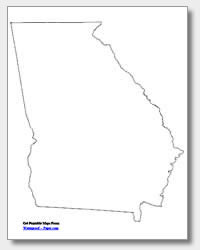 printable Georgia outline map