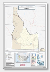 printable Idaho congressional district map