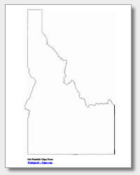 printable Idaho outline map