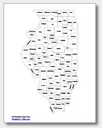printable Illinois county map labeled