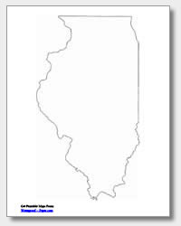 printable Illinois outline map
