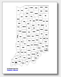 printable Indiana county map labeled