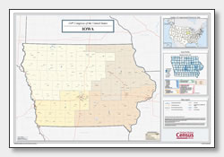 printable Iowa congressional district map