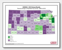 printable Kansas population population change map