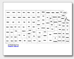 Printable Kansas Maps | State Outline, County, Cities