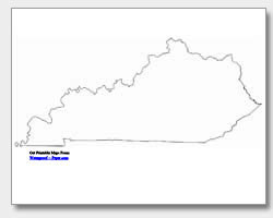 Printable Kentucky Maps | State Outline, County, Cities