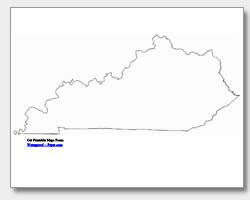 printable Kentucky outline map