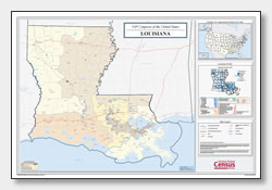printable Louisiana congressional district map