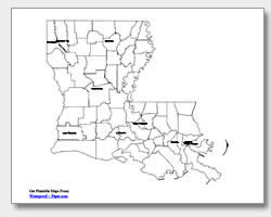 Gallery For Gt Louisiana Map With Major Cities