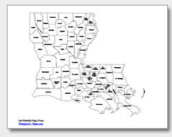 Pin Louisiana Parish Map On Pinterest