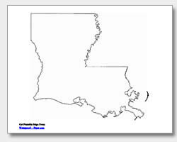Printable Louisiana Maps  State Outline Parish Cities