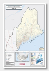 printable Maine congressional district map