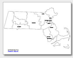 printable Massachusetts major cities map labeled