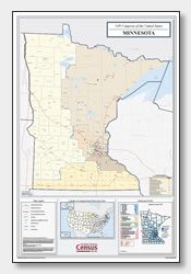 printable Minnesota congressional district map