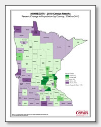 printable Minnesota population change map