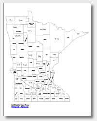 Printable Minnesota Maps State Outline County Cities - County maps of minnesota