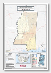 printable Mississippi congressional district map