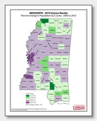 printable Mississippi population population change map