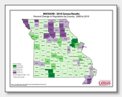 printable Missouri population change map
